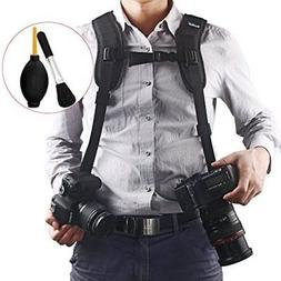 Quick Release Double Dual Camera Shoulder Strap Harness,Kons