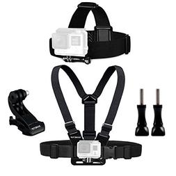 Sametop Chest Mount Harness Chesty Head Mount Strap Kit Comp