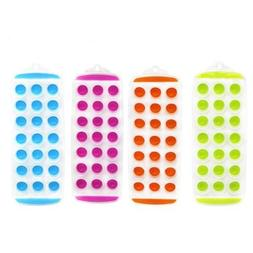Set of 4 - 11'' Easy push Pop Out round mini Ice Cube Trays