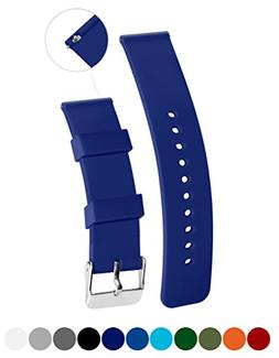 Silicone Watchband Strap,Quick Release,Soft Rubber Surface w