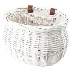 "Sunlite Willow Bushel Strap-On Basket, 13 x 8 x 9"", White"