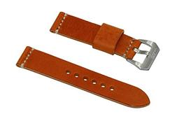 Swiss Reimagined Antique Orange Leather Watch Band with Sati