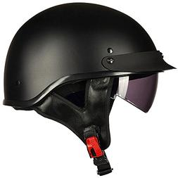 Upgraded ILM Motorcycle Half Helmet With Integrated Sun Viso