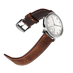 Watch Strap Leather Quick Release Band Steel Pin Buckle Clas