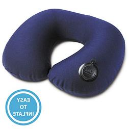 Lewis N. Clark Adjustable On Air Neck Pillow, Blue