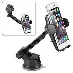 iKross Auto Lock 2-in-1 Car Phone Mount, Dashboard Mount Car