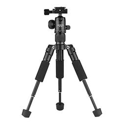 Andoer BC-30 Mini Tabletop Tripod Stand with Ball Head 1/4""
