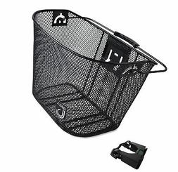 Biria bicycle Basket with Bracket Black - Front Quick Releas