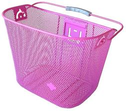 Bicycle Basket with Bracket Pink, Front Quick Release Basket
