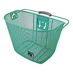 Bicycle Basket with Bracket Green, Front Quick Release Baske