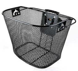 Bicycle Bike Front Basket Wicker with Quick Release