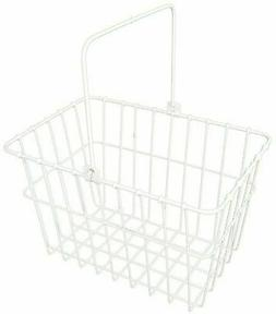 "Wald Standard Bicycle Lift Off Basket, #133 White 14.5"" x 9."