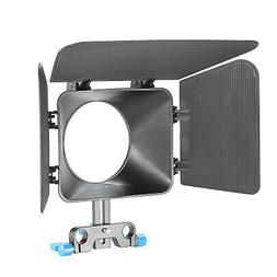 Neewer Black Plastic DSLR Matte Box for 15mm Rail Rod Suppot