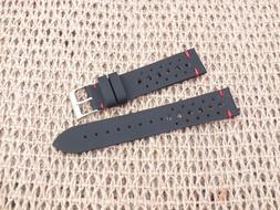 Black Waterproof Vintage Rally Quick Release Watch Strap 20m