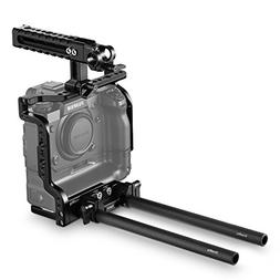 SmallRig Cage Kit with NATO Top Handle, Dual Rod Clamp and 9