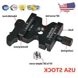ANDOER CAMERA DSLR CLAMP QUICK RELEASE QR PLATE KNOB TYPE FO