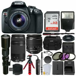 Canon EOS Rebel T6 DSLR Camera + EF-S 18-55mm is II Lens + 7