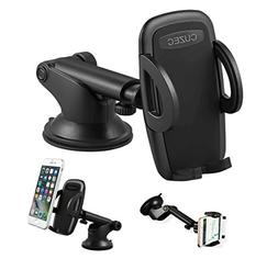CUZEC Car Phone Holder Windshield and Dashboard Mounted Phon