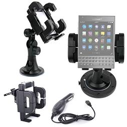 DURAGADGET Exclusive 3-in-1 In-Car Smartphone Kit with Winds