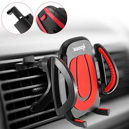IPOW Car Vent Phone Mount, Never Fall-Off Car Phone Mount wi