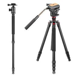Neewer Carbon Fiber 168 centimeters Tripod Monopod with 360