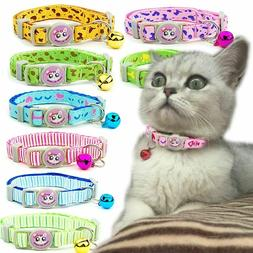 Cat Collar with Bell Breakaway Safety Adjustable Pet Supplie