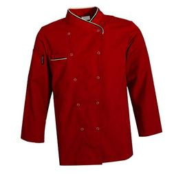 MagiDeal Unisex Quality Chef Jacket Long Sleeves with Pen Po