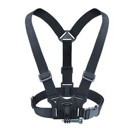 USA Gear Action Camera Chest Harness Mount with J Hook and T