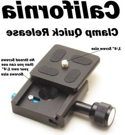 Clamp and QR Quick Release Plate for Tripod Ball Head Camera