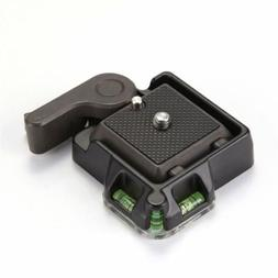 Clamp&Quick Release QR Plate Mount Holder For Tripod Monopod