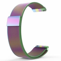 Fullmosa Compatible Gear S3 Watch Band Milanese Loop 22mm Qu