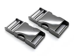 CRAFTMEmore 2 pcs 3/4 inch Metal Curved Side Release Buckle