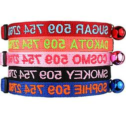 Personalized Breakaway Cat Collars with Safety Release Buckl