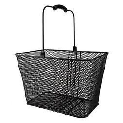 Sunlite DLX Mesh Lift-Off Front Basket w/ Bracket, Black