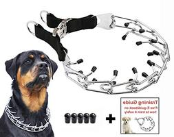 Dog Prong Training Collar, Stainless Steel Choke Pinch Dog C