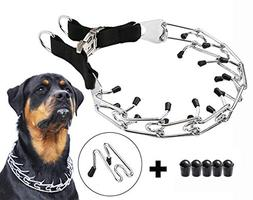 Mayerzon Dog Prong Training Collar, Stainless Steel Choke Pi