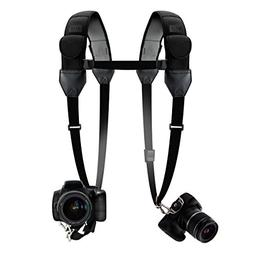 Double Camera Harness Dual Shoulder Strap with Quick-Release