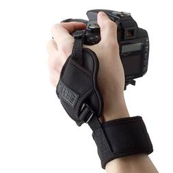 Professional Camera Grip Hand Strap with Black Padded Neopre