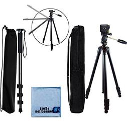 80 Inch Elite Series Professional, Full Size Camera Tripod +