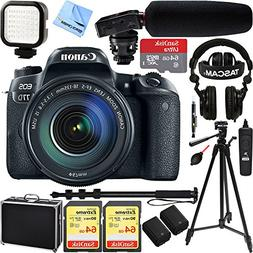 Canon EOS 77D 24.2 MP CMOS  Digital SLR Camera with EF-S 18-