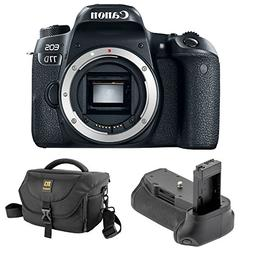 Canon EOS 77D DSLR Camera  with Vello BG-C15 Battery Grip an
