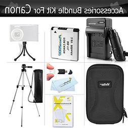 Essential Accessories Kit For Canon Powershot Elph 190 IS, E