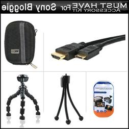 Essential Accessories Bundle Kit For Sony Bloggie Live , Son