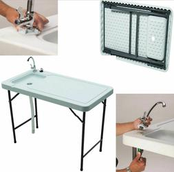 Fish Game Cleaning Table Fishing Faucet Sink Outdoor