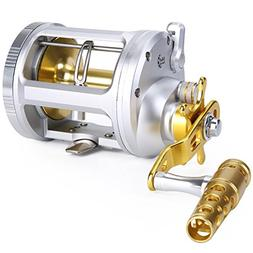 One Bass Fishing Reels Level Wind Trolling Reel Conventional