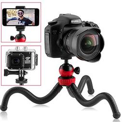 Travel Tripod for DSLR Camera, GoPro, iPhone, Android Smartp