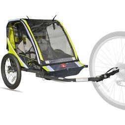 Allen Sports Folding Deluxe 2-Child Bike Trailer With Quick