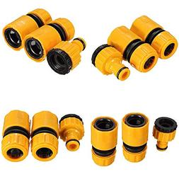 3X 1/23/4 Garden Hose Water Pipe Quick Connector Tube Fittin