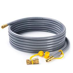 """SHINESTAR 24 feet Natural Gas Hose with 3/8"""" Male Flare Qu"""
