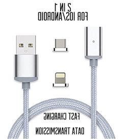 4TH Generation 2 in 1 Magnetic Phone Charger cable High Spee